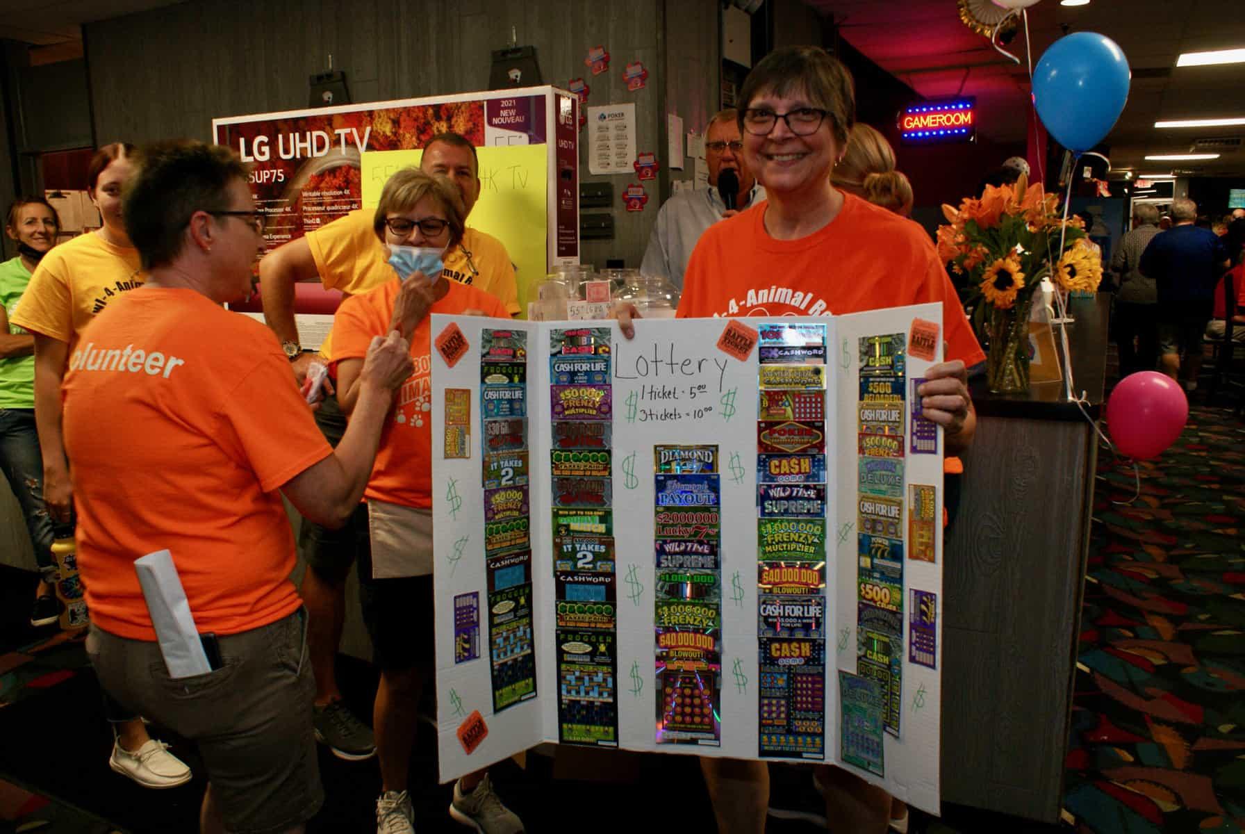 Jeanne Lottery Board Bowl 4 Animal Rescue